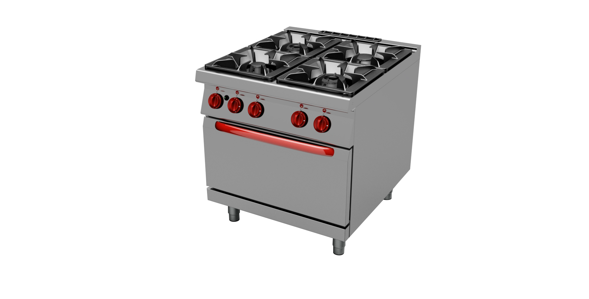Cucina a gas 4 fuochi con o senza forno linea 700 - TecnoFood ...